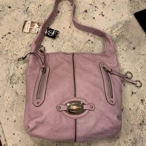 B Makowsky Lavender Leather Bag NWT
